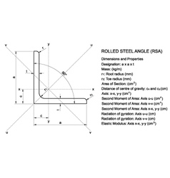 Equal rolled steel angle vector