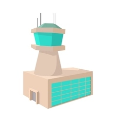 Airport control tower cartoon icon vector