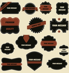 vintage retro ornate labels vector image