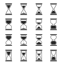 Sandglass and hourglass icons vector