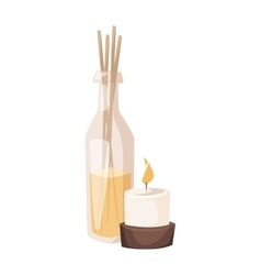 Aroma spa candles vector