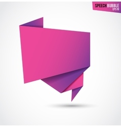 Abstract pink banner isolated on the white vector