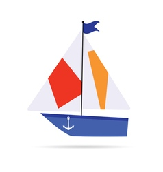 boat cartoon icon vector image
