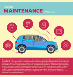 Cars tips blue suv and line vector