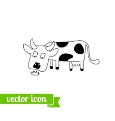 Cow icon 1 vector image vector image