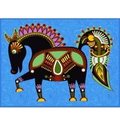 ethnic folk animals in Ukrainian traditional vector image