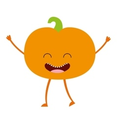 Fruit character cute icon vector
