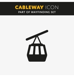 Funicular cableway icon vector