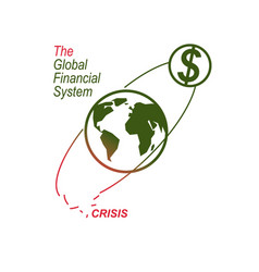 Global financial crisis conceptual logo unique vector