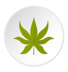Green chestnut leaf icon circle vector