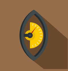Hand power meter icon flat style vector