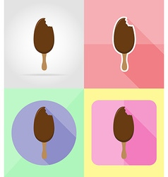 ice cream flat icons 01 vector image vector image