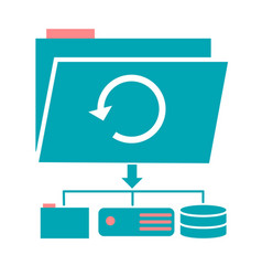 Icon backup day vector