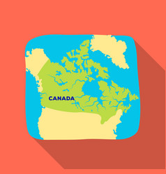 Map of canada canada single icon in flat style vector