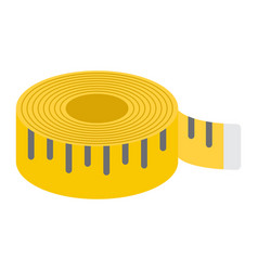 measure tape flat icon centimeter and size vector image