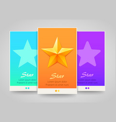 Modern colorful vertical stars banners vector