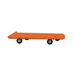 orange skateboard board sport element vector image