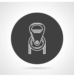 Pulley black round icon vector