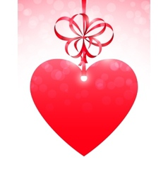 Red Heart and Bow vector image