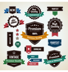 Retro Labels 1 vector image vector image