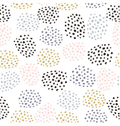 seamless pattern with ink drawn dots vector image