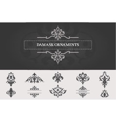Set of Damask Ornaments II vector image vector image