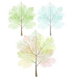 Stylized trees set vector