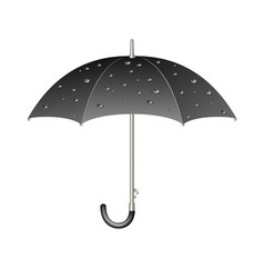 Umbrella in dark design with raindrops vector