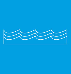water icon outline style vector image vector image