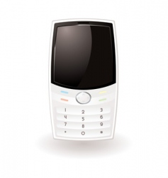 white cell phone vector image vector image