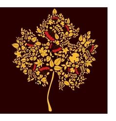 Maple doodle leaf vector image