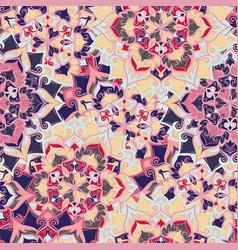 Boho flower pattern vector