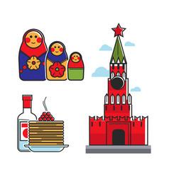 Russia soviet union symbols for ussr russian vector