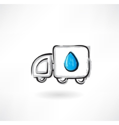 fuel car grunge icon vector image