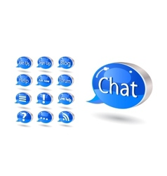 chat forum blog rss help bubbles vector image