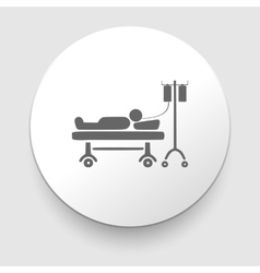 Man resting at hospital bed vector