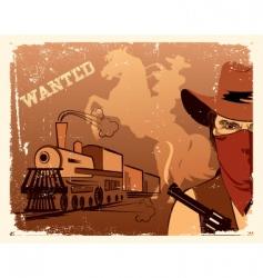 cowboy western vector image