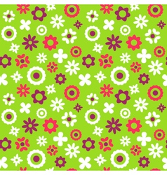 Bright fun abstract seamless pattern with flowers vector