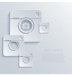 modern camera light icon background vector image