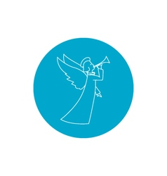 Linear icon christmas angel vector