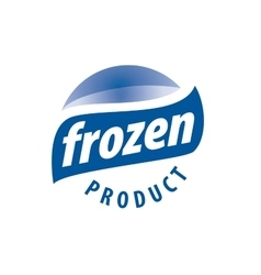 Logo for frozen products vector