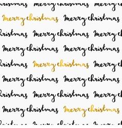 Gold white black merry christmas seamless pattern vector