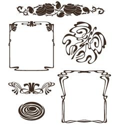 art nouveau design elements vector image