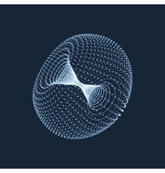 Torus consisting of points 3d grid design vector