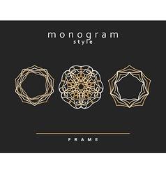 Monogram in a contemporary style interlocking vector