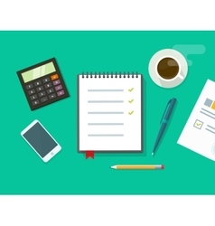 Work desk  business office vector
