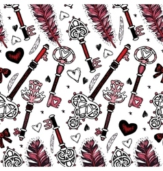 Romantic seamless pattern valentine day vector