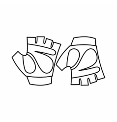 Cycling gloves icon outline style vector
