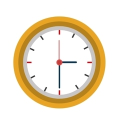Time and clock colorful icon vector