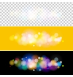 Bright lights on yellow and black background vector